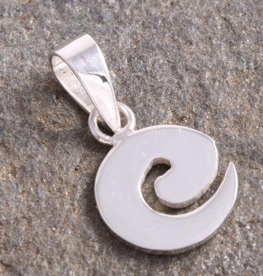 Zilveren Luck Charm Hanger Spiraal