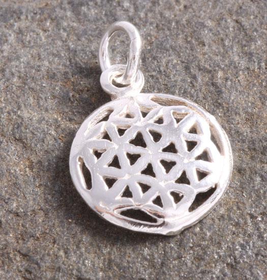 Zilveren Luck Charm Hanger Keltische Knoop