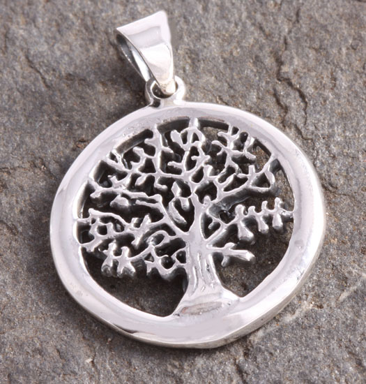 Silver Pendant Tree of Life in Circle