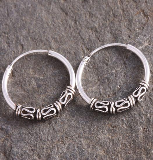 Silver Bali Earring