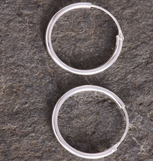 Silver Plain Hoop Earrings