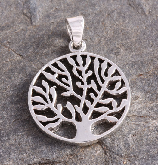 Silver Pendant Tree of Life Abstract