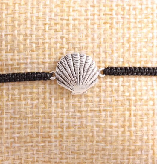 Silver Shell & Pull Rope Bracelet