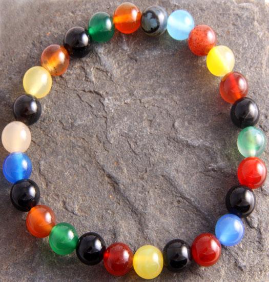 Luck stones Multi colored Agath