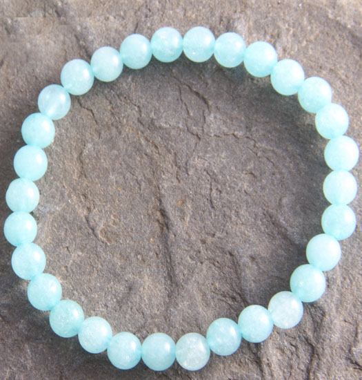 Luck stones Colored White Jade