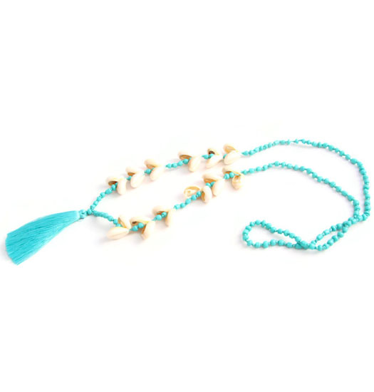 Ibiza Necklace Kauri-shell and Tassle