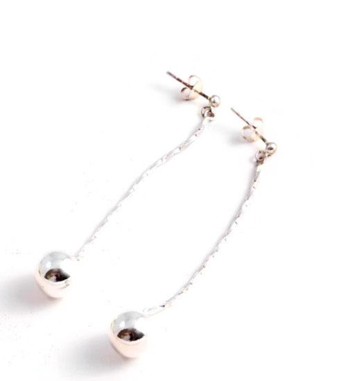 Earrings Silver Ball