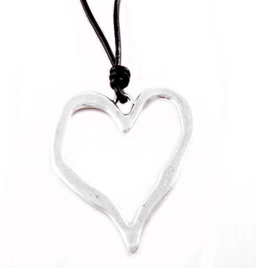 Necklace Big heart silver