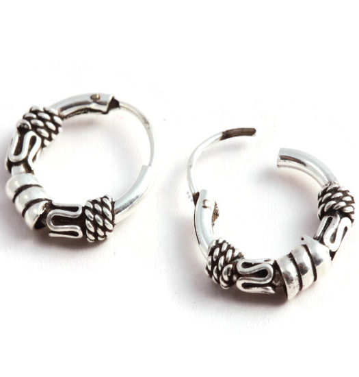 Silver Bali Earrings