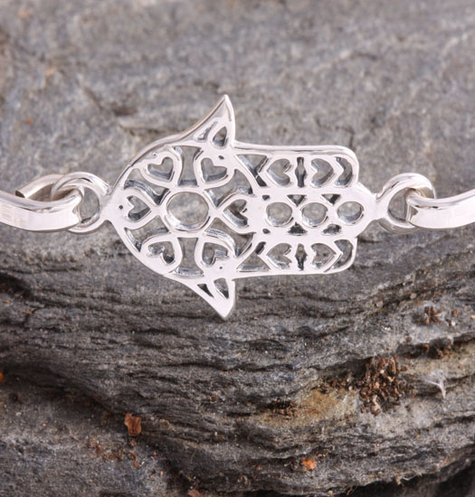 Fine Silver Bracelet Hand of Fatima