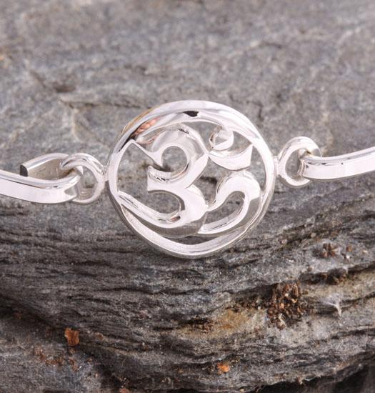 Fine Silver Bracelet Ohm