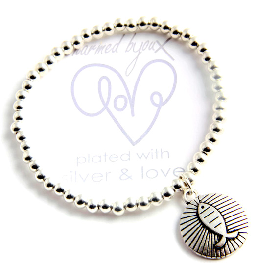 Bracelet silver plated - fish