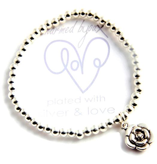 Bracelet silver plated - flower