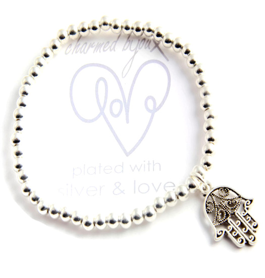 Bracelet silver plated - lucky hand