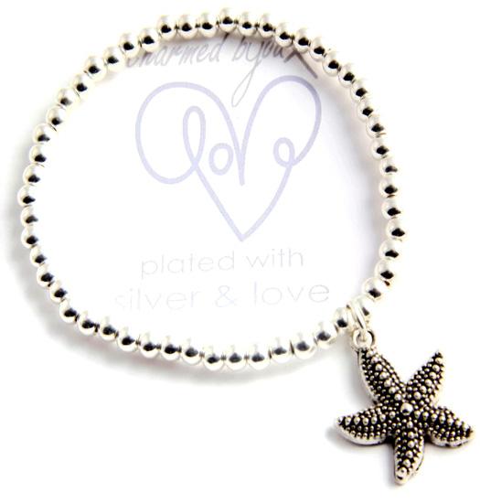 Bracelet silver plated - seastar