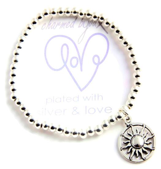 Bracelet silver plated - sun