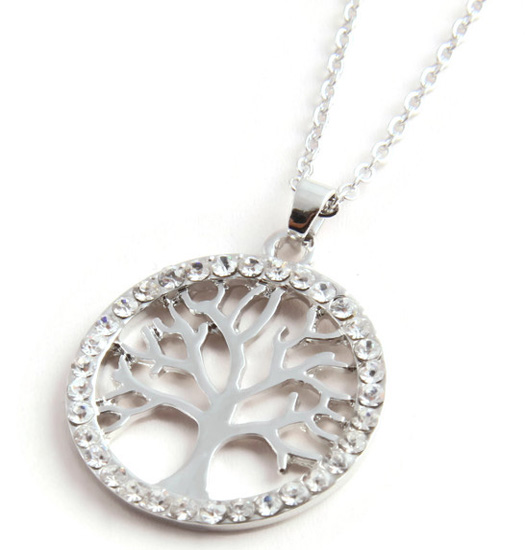 Ketting Tree of Life and strass