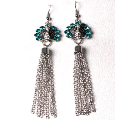 Earrings Tuqoise peacock